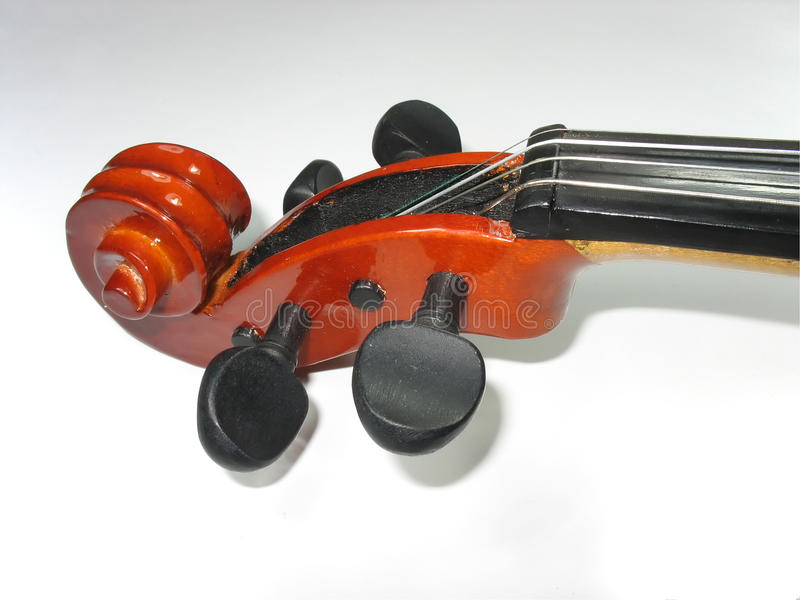 经典详细资料宏观音乐小提琴 免版税库存图片