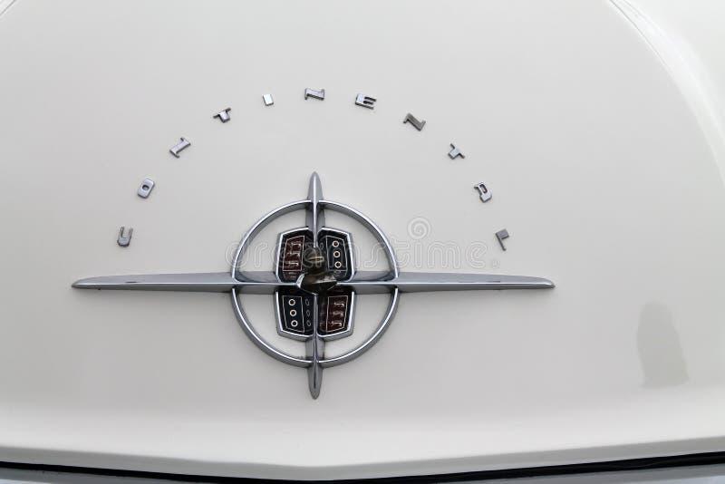 经典豪华林肯大陆汽车后方细节 免版税图库摄影