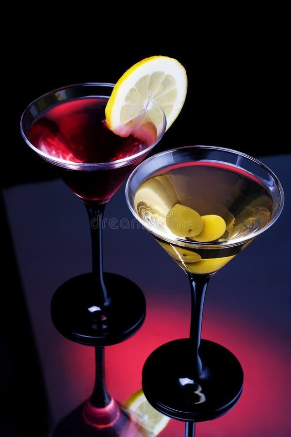 经典马蒂尼鸡尾酒 免版税库存图片