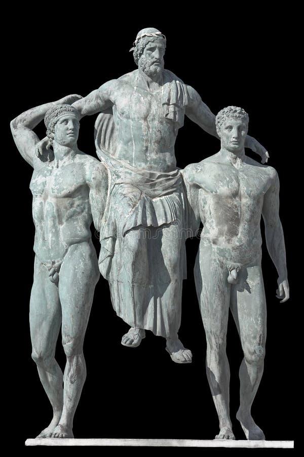 经典diagoras时代希腊雕象 库存照片