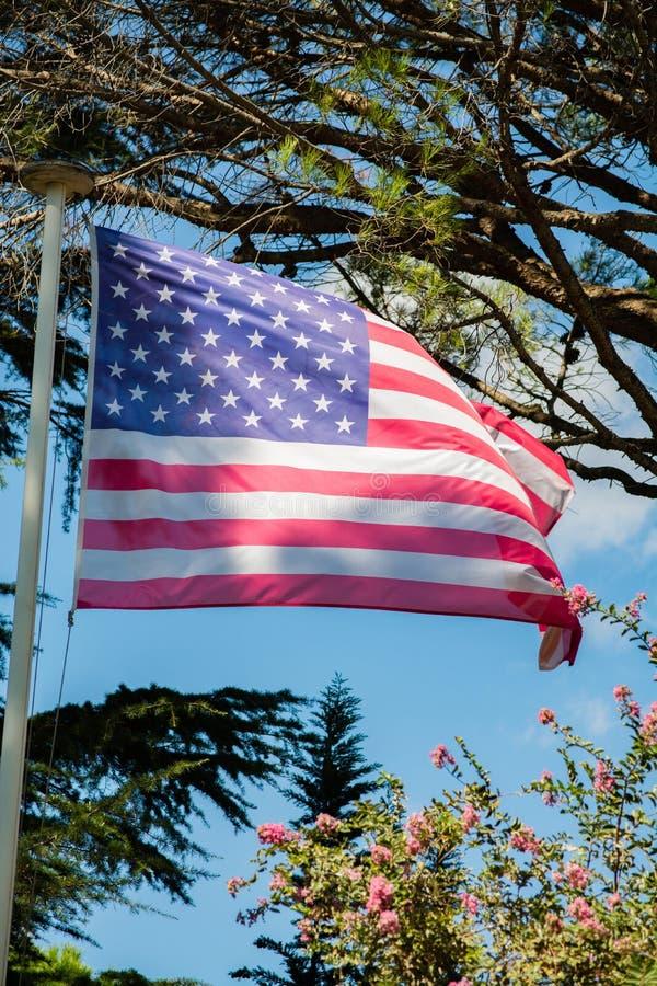 经常指A美利坚合众国的旗子 库存例证