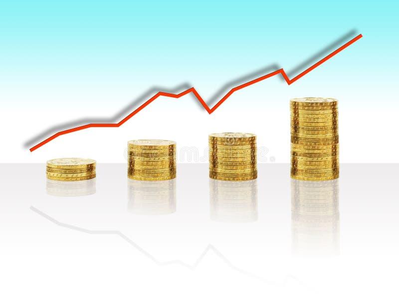 经济增长 库存例证