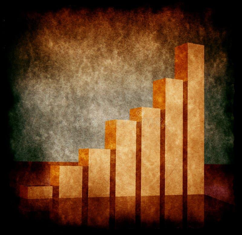 经济情况统计 皇族释放例证