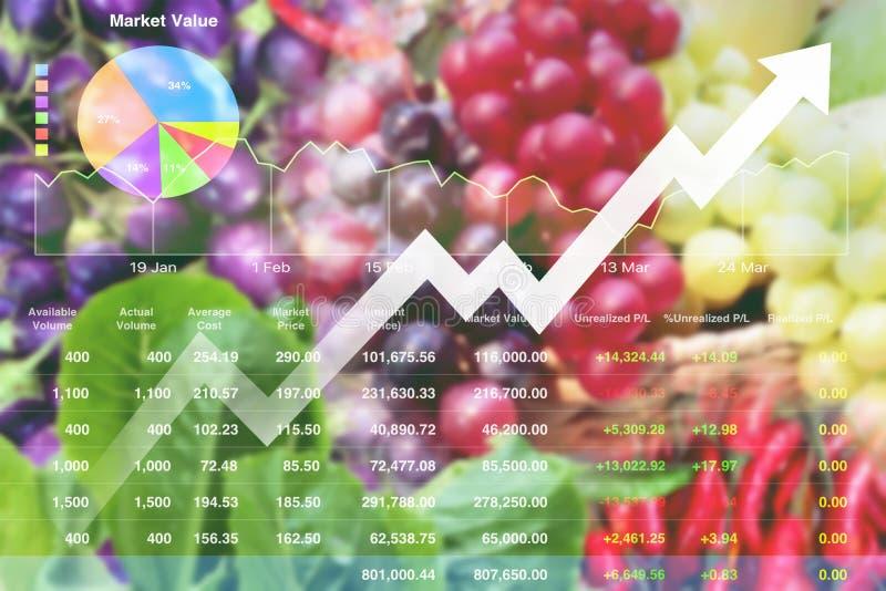 经济投资成功在农产品 库存图片