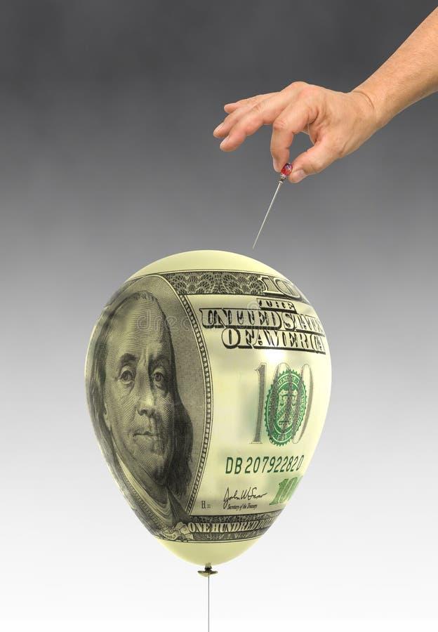 经济的泡影 图库摄影