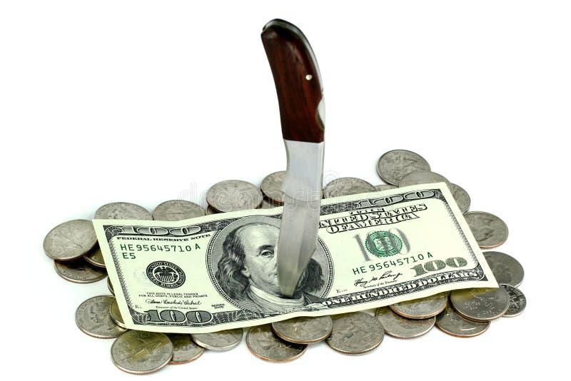 经济的灾害 免版税库存照片