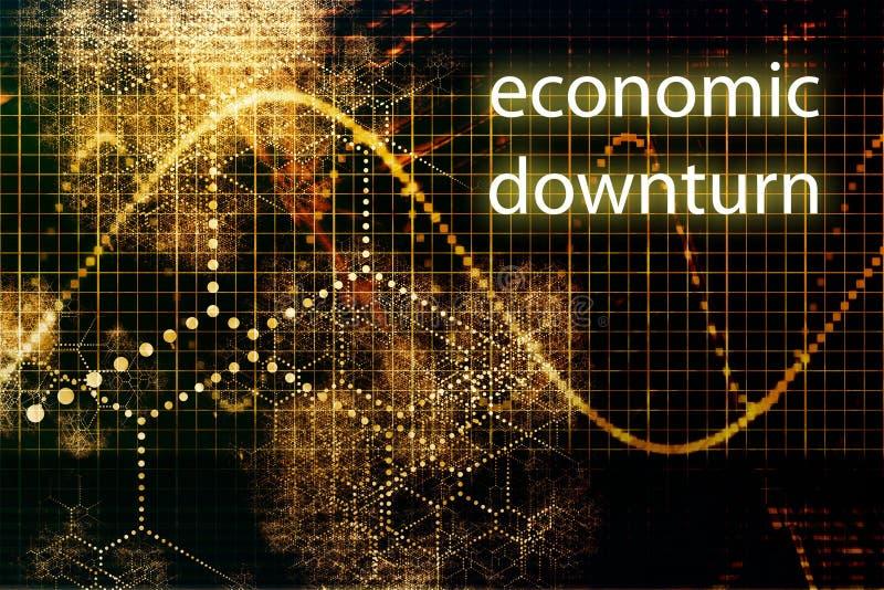 经济的转淡 向量例证