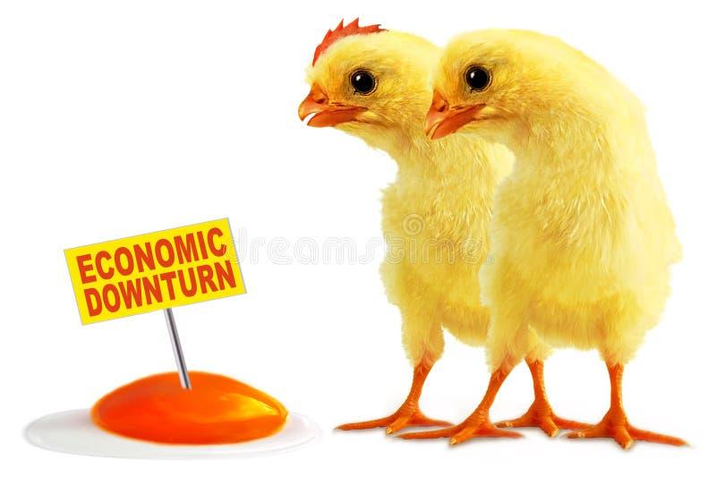 经济的转淡 库存图片