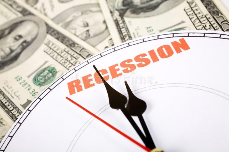 经济衰退 免版税图库摄影