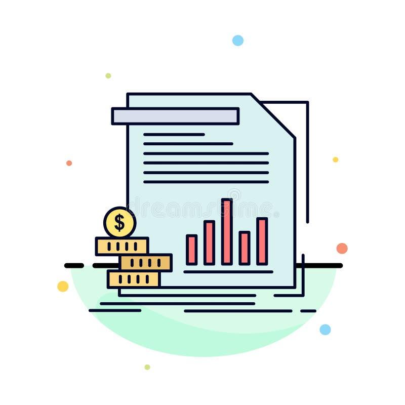 经济,财务,金钱,信息,报告平的颜色象传染媒介 向量例证