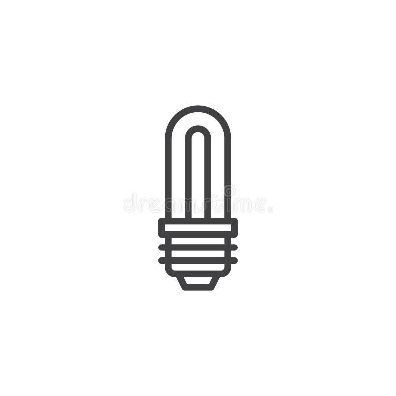 经济LED电灯泡概述象 皇族释放例证