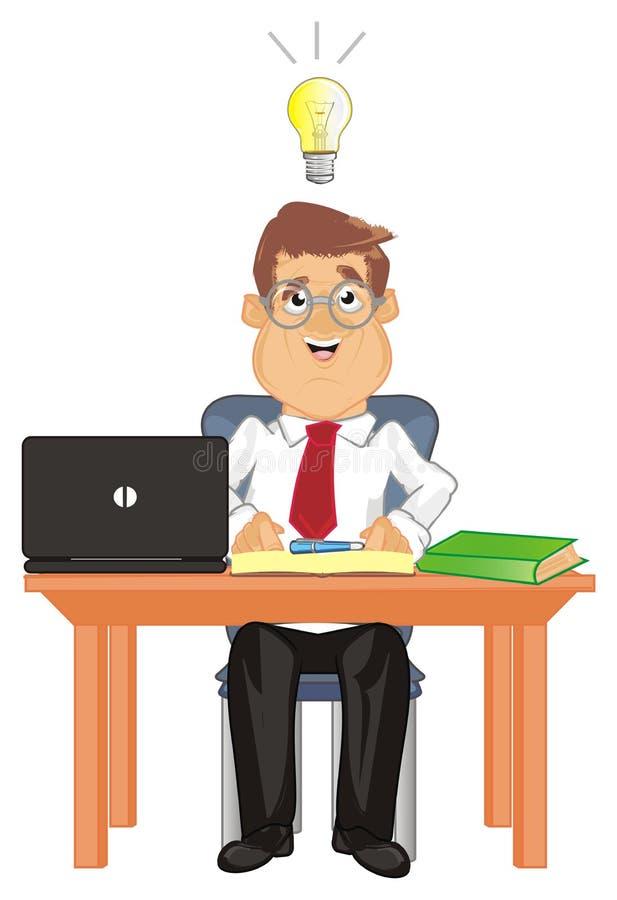 经理和想法 向量例证