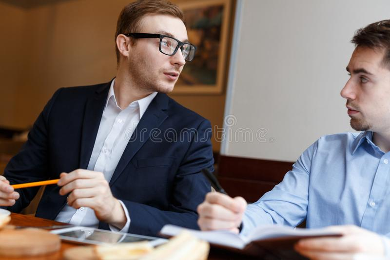 经理谈话  免版税库存图片