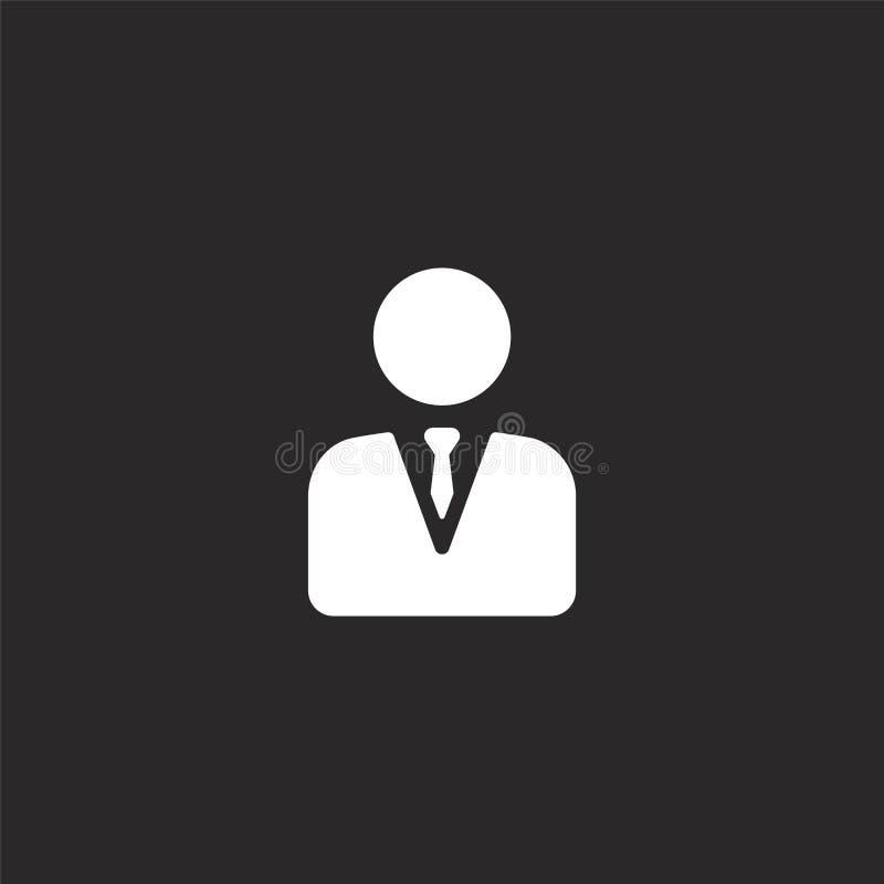 经理象 网站设计和机动性的,应用程序发展被填装的经理象 从被填装的被填装的管理的经理象 向量例证