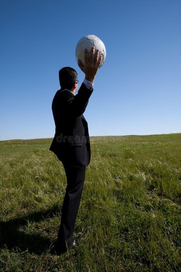 经理足球 库存图片