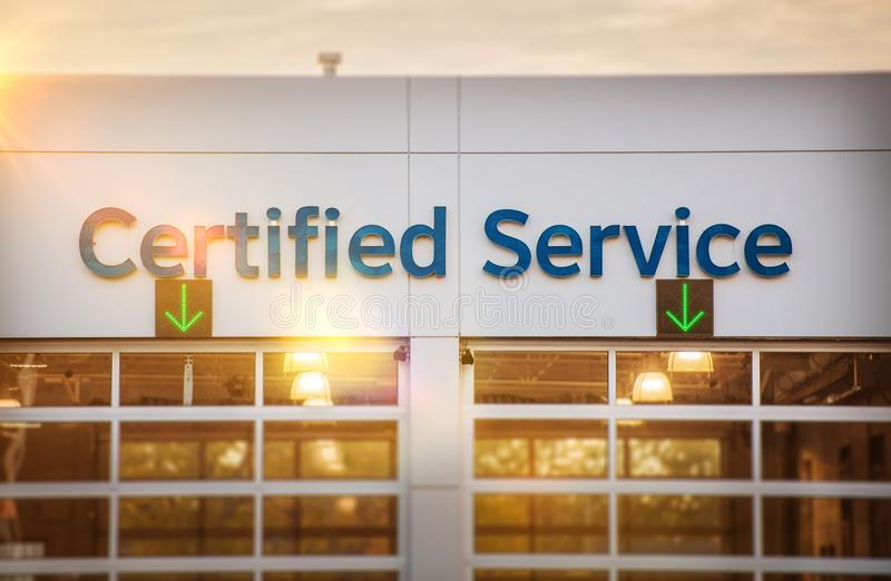 经销权被证明的汽车服务 库存照片
