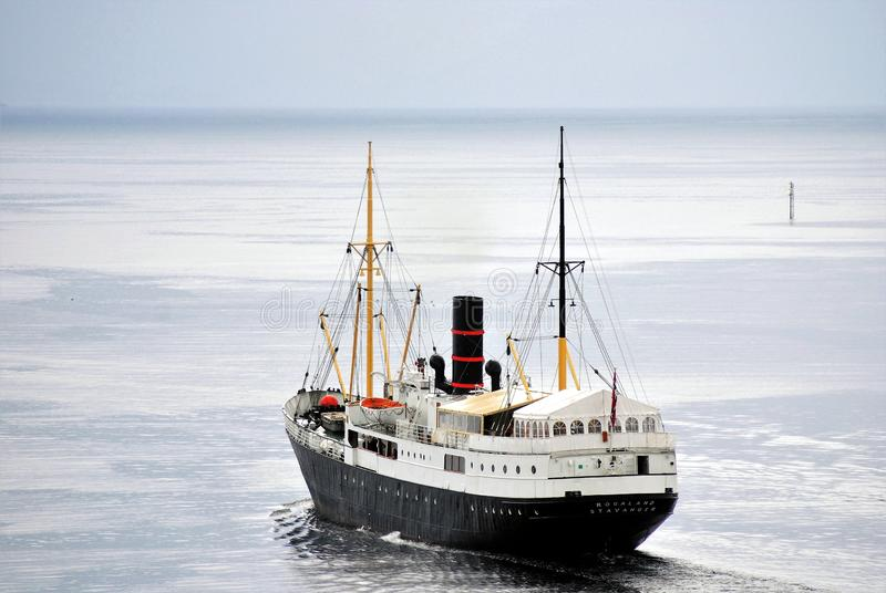 经验丰富的船'Gamle罗加兰' 库存照片