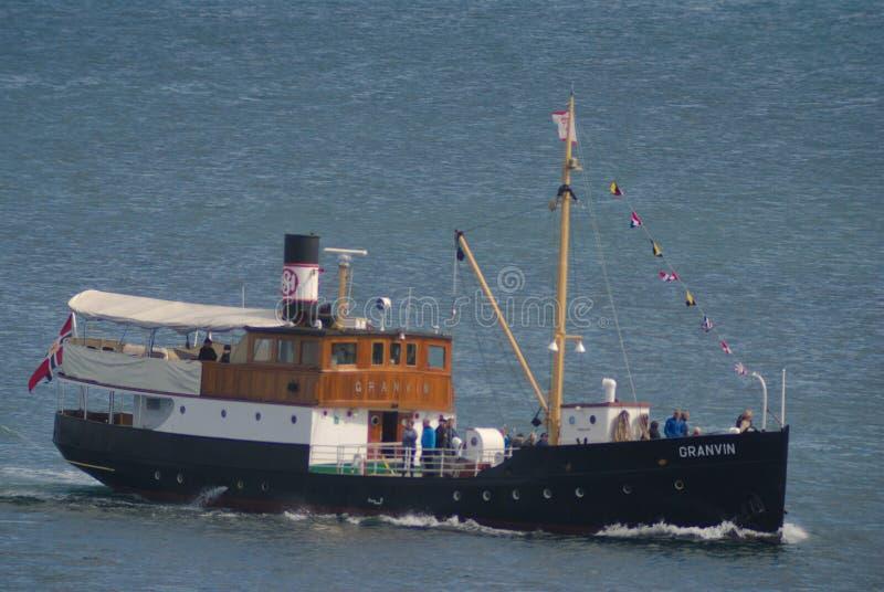 经验丰富的船'Granvin' 库存图片