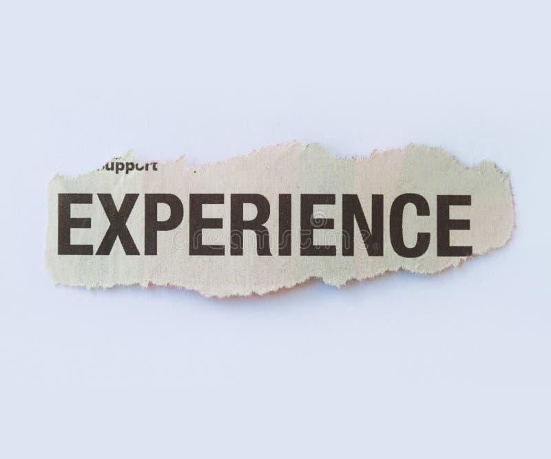 经验 免版税库存照片