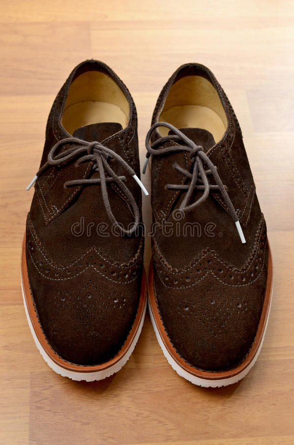 绒面革鞋子 免版税库存图片
