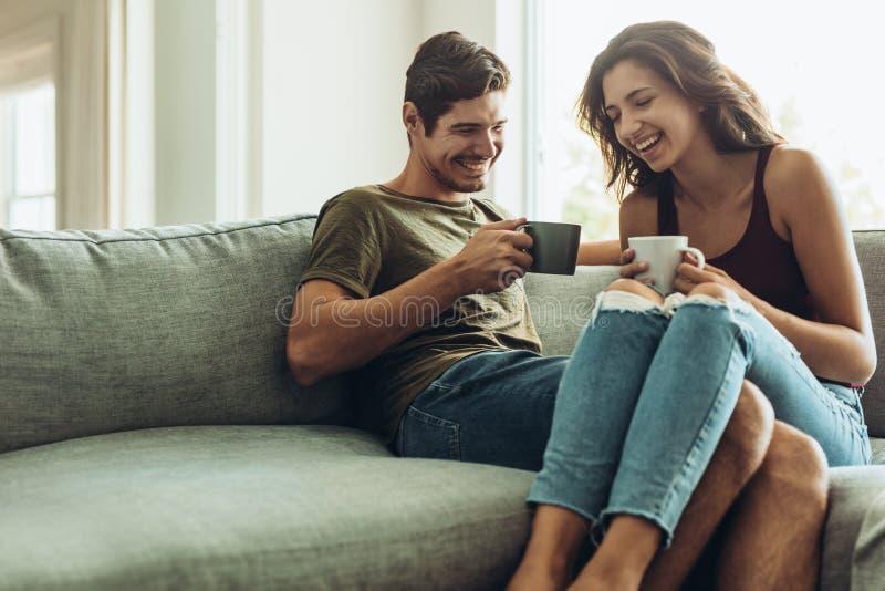 结合在家放松用咖啡 库存照片