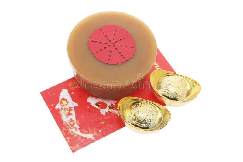 结块中国金锭新的包红色年 库存图片