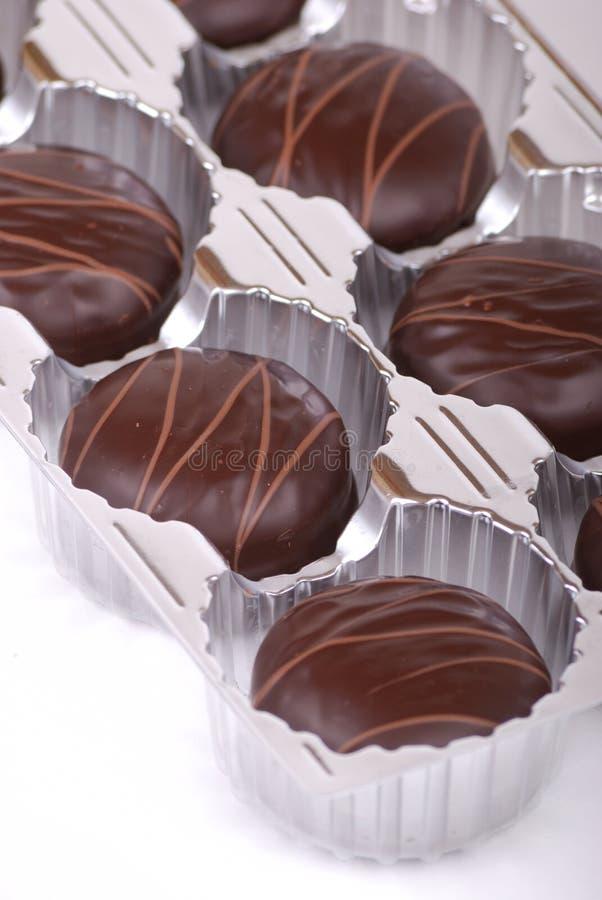 结块小的巧克力 免版税库存照片