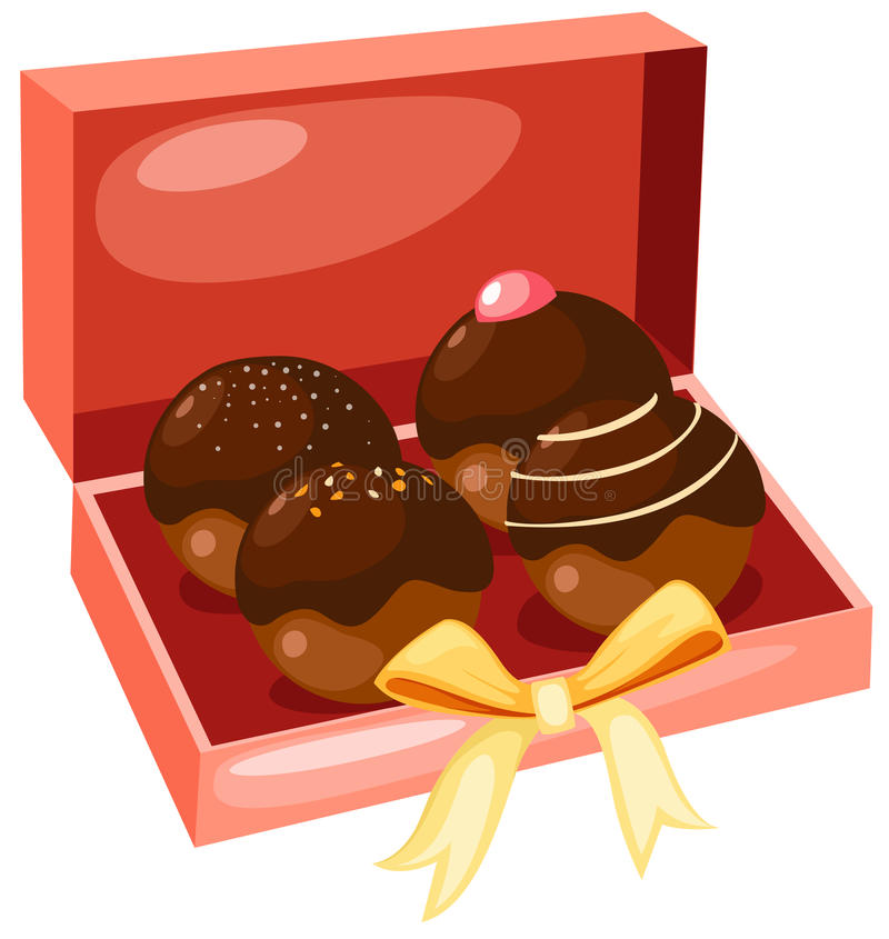结块巧克力 库存例证