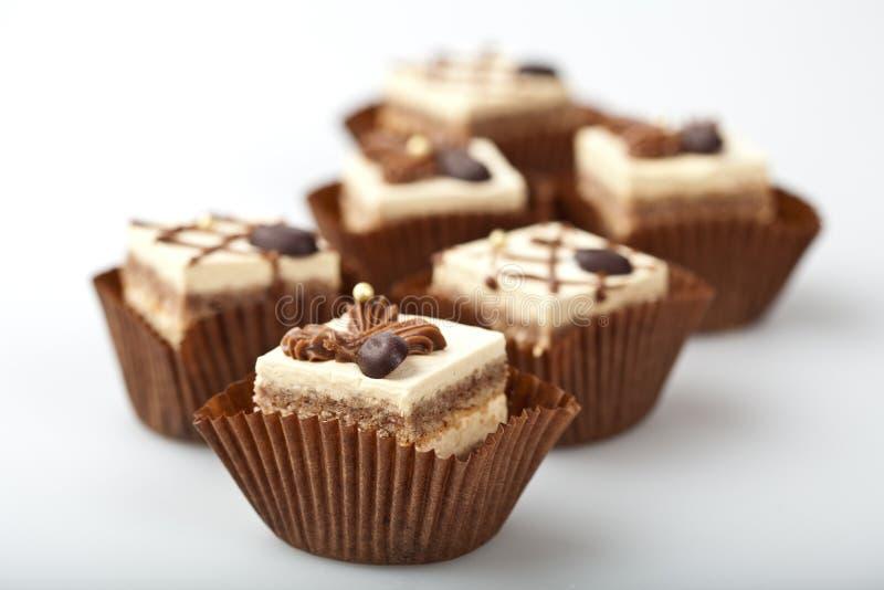 结块微型的巧克力 库存照片