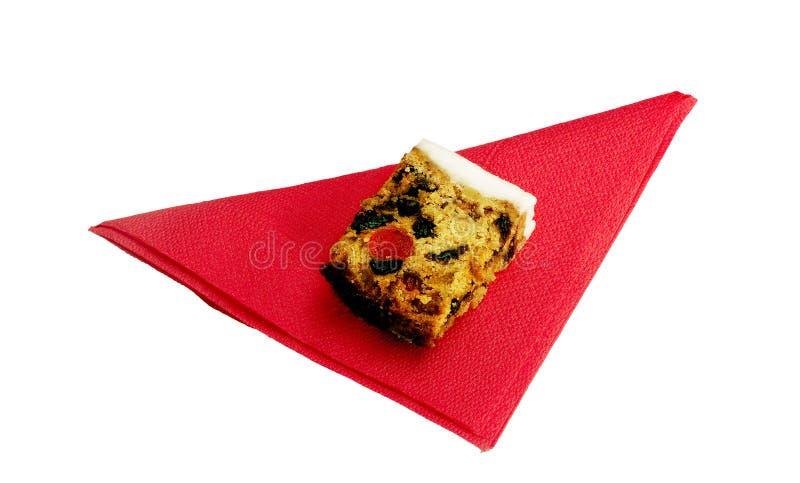 结块查出的红色餐巾婚礼 库存图片
