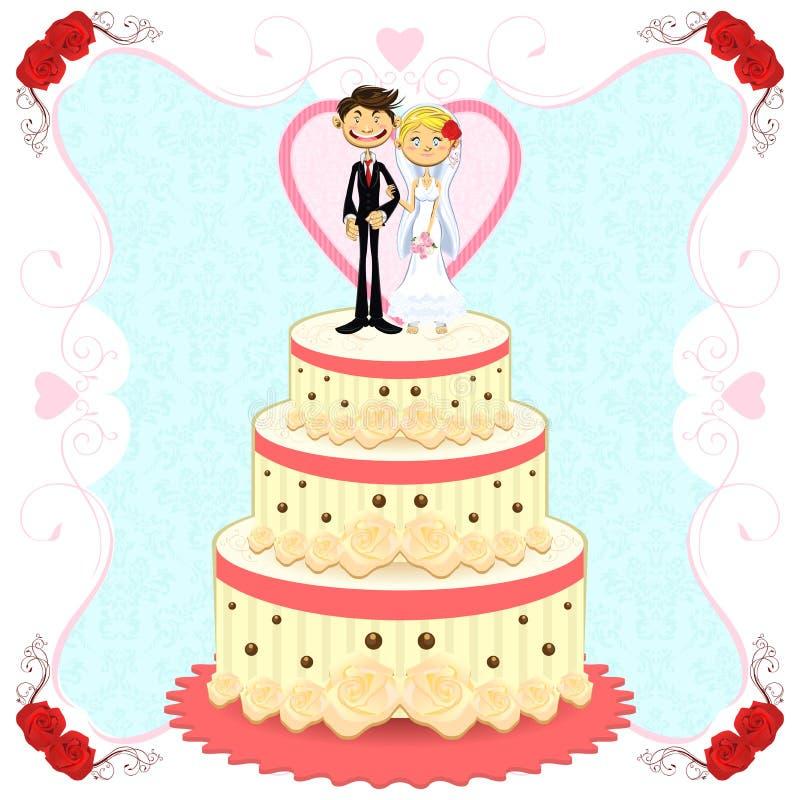 结块浪漫婚礼 向量例证