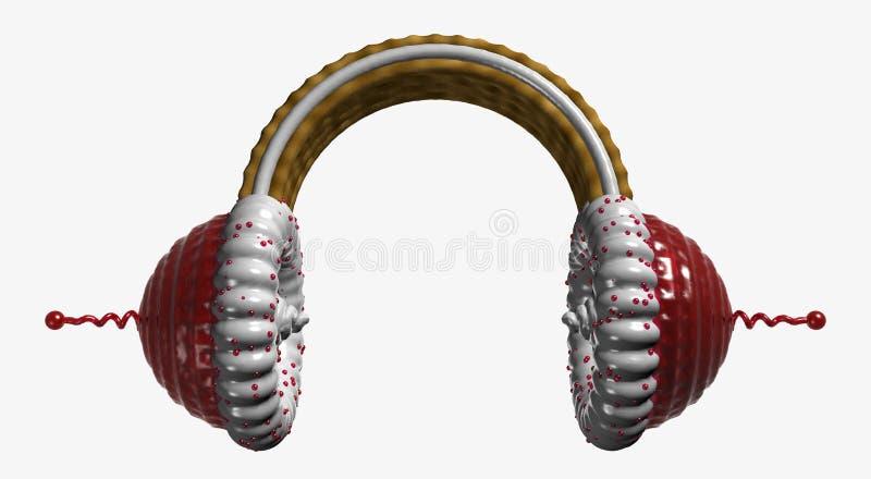 结块耳朵电话 向量例证