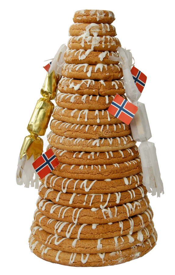 结块薄脆饼干环形 免版税库存照片