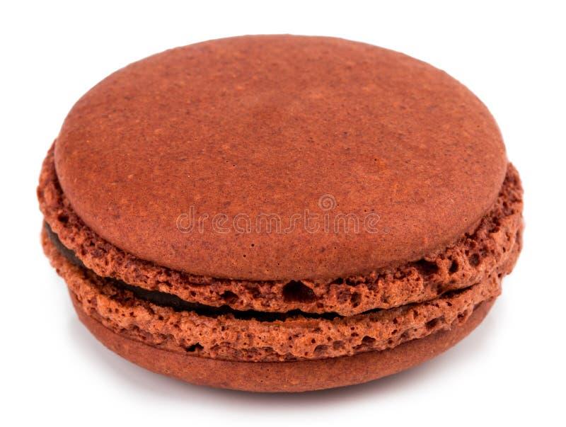 结块被隔绝的macaron或蛋白杏仁饼干在白色背景,甜点和 库存照片