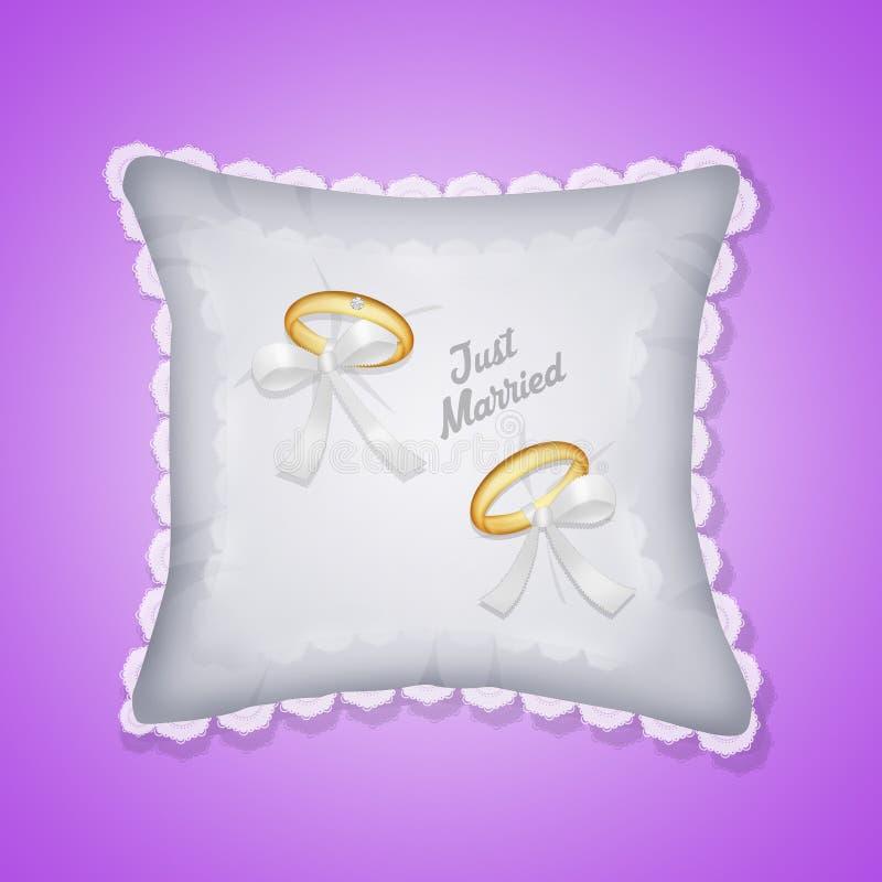 结婚的圆环 库存例证