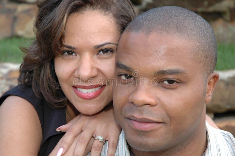 结婚的夫妇愉快 免版税库存照片