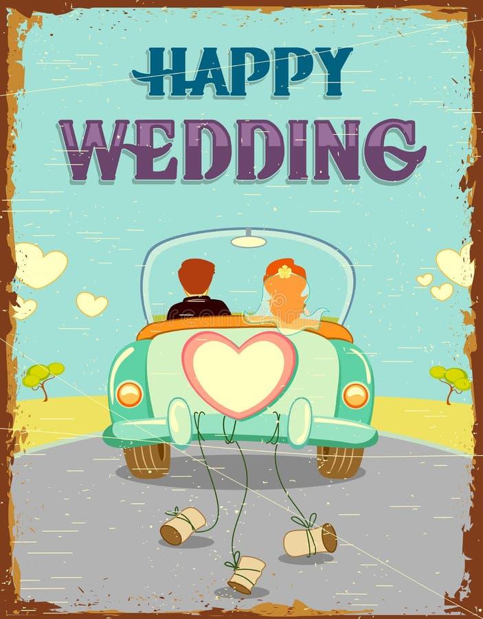 结婚的夫妇 向量例证