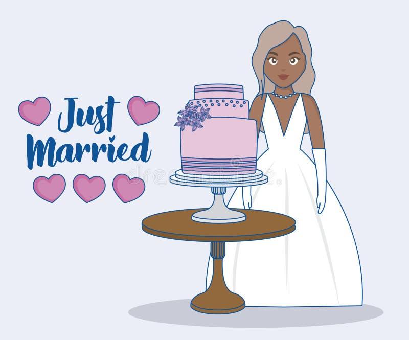 结婚的设计 向量例证