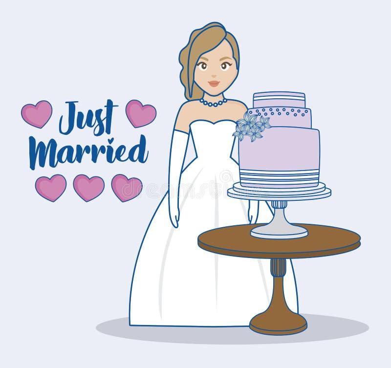 结婚的设计 库存例证