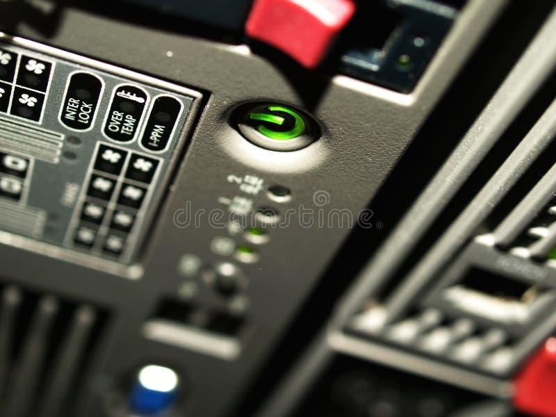 结尾大功率服务器切换 图库摄影
