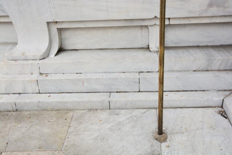 结束保护电漏出的安全铜接地棒用途 免版税库存图片