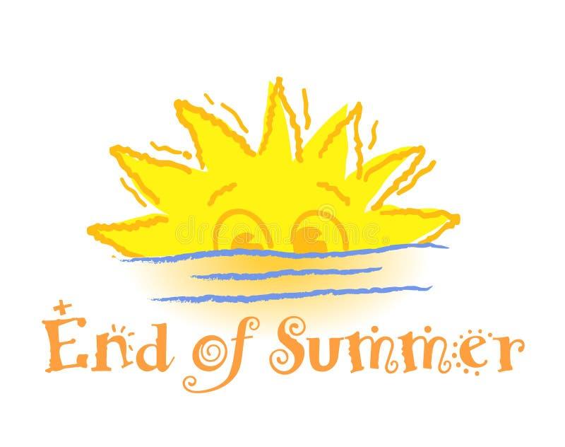 结束夏天 向量例证