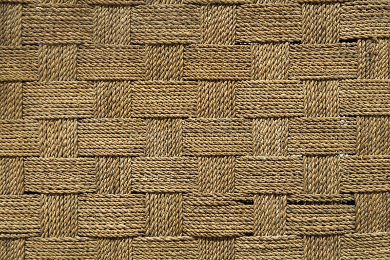 结束被编织的螺纹粗砺的织品纹理  免版税库存图片