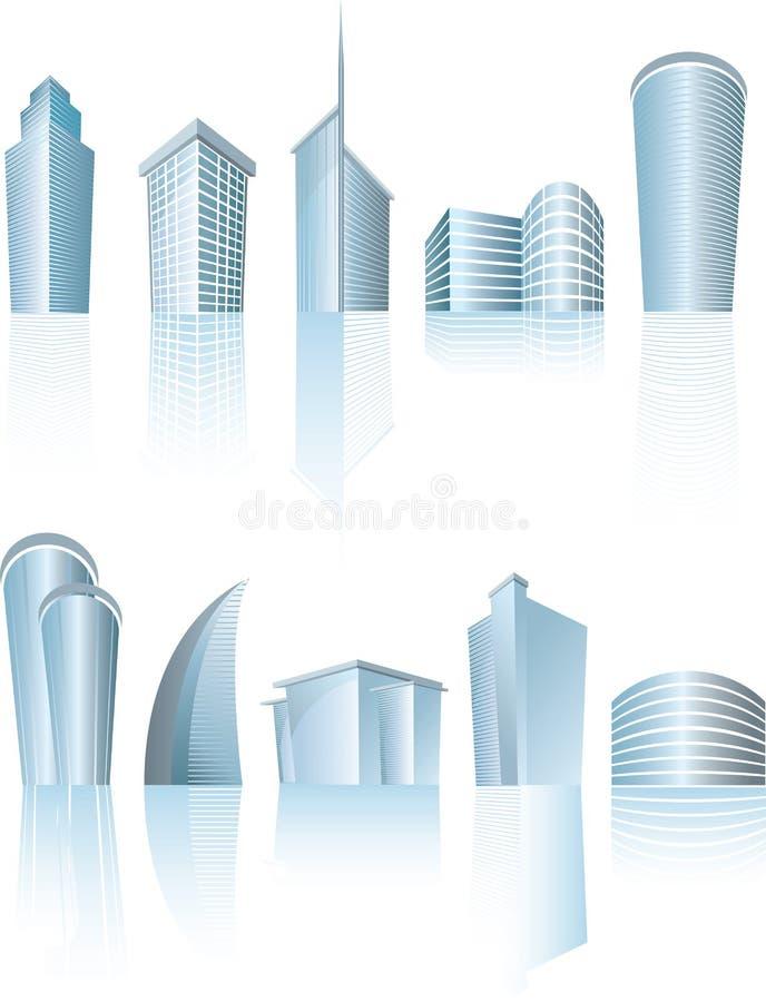 结构上大厦城市通用办公室 皇族释放例证