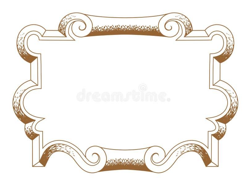 结构上巴洛克式的装饰框架装饰物 皇族释放例证