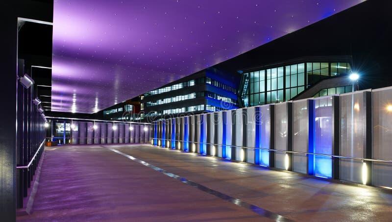 结构上布里斯班centro复杂照明设备 免版税库存照片