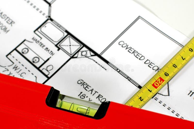 结构上折叠的级别计划规则水 免版税库存图片