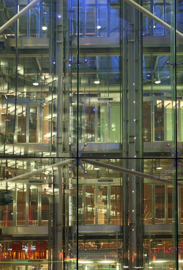 结构上的玻璃 库存图片