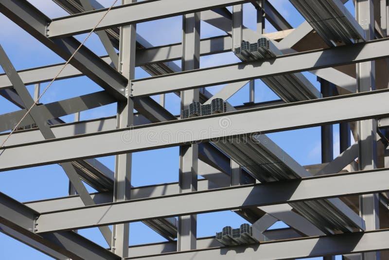 结构上的钢 免版税库存照片