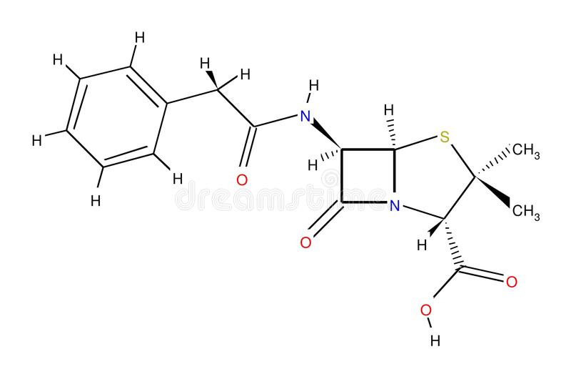 结构上配方的青霉素 图库摄影